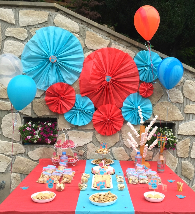 Dog Party Dessert Table