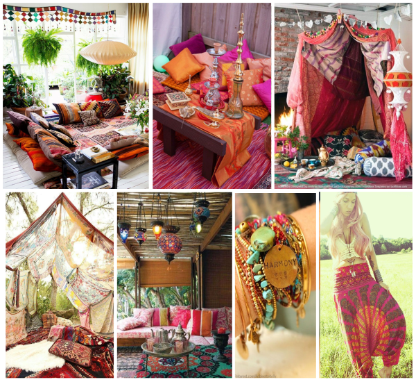 Bohemian party inspiration board