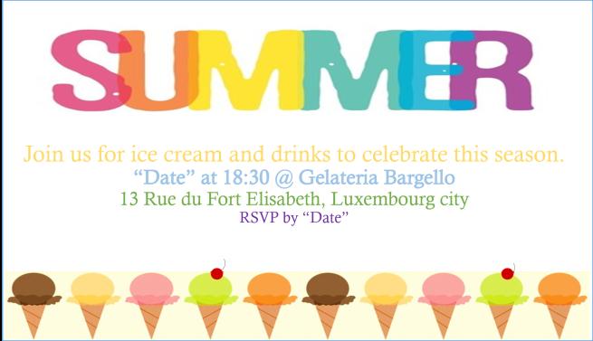 Ice Cream Summer Party Invitation