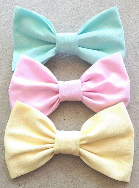 Bows pastel fabrics