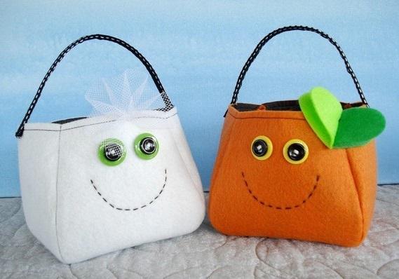 Eco Halloween Treat Bags felt