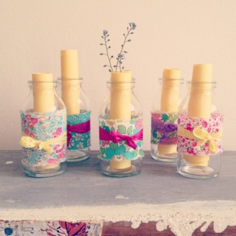 Milk Jars Fabric