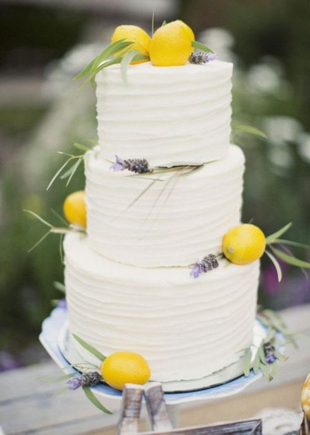 Nature Elements Wedding Cake