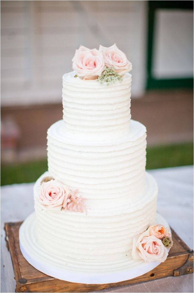 Easy ways to decorate wedding cakes the party ville party ruffled wedding cake junglespirit Choice Image