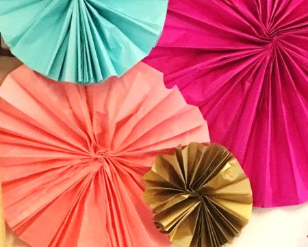 DIY Tissue Paper Fan