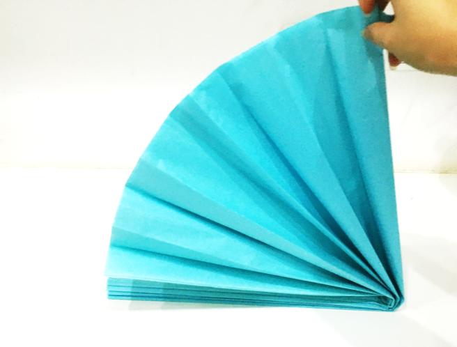 Paper Fans Step 11