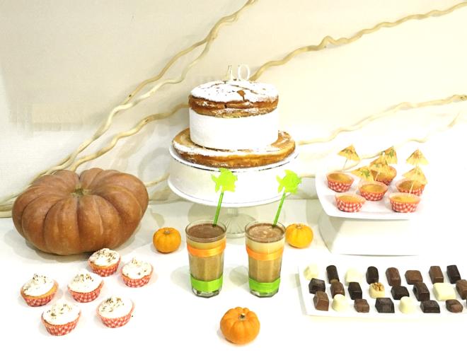 pumpkin party dessert table