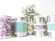 Upcycle cans with fabric