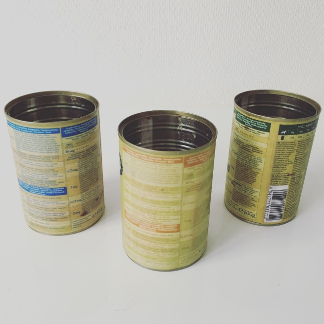 upcycled cans before