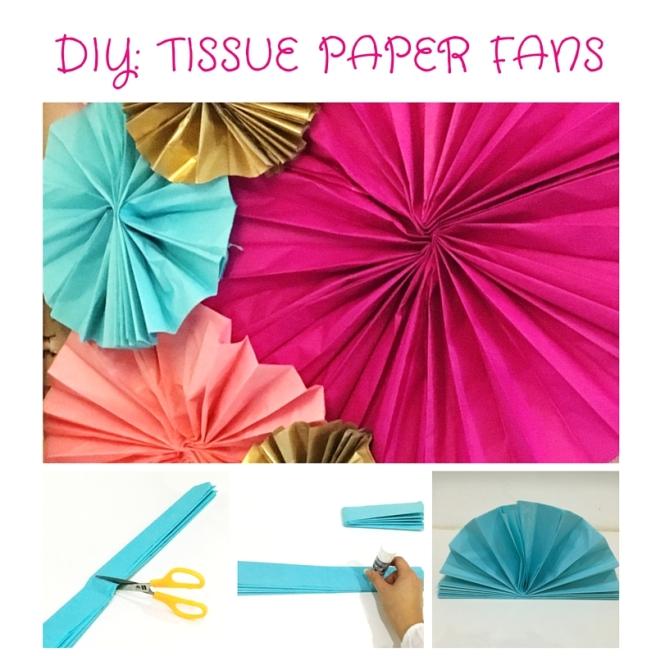 DIY TISSUE PAPER FANS