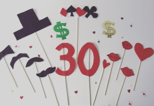 DIY casino photobooth with felt
