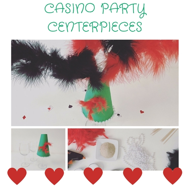 DIY CASINO PARTY CENTERPIECES
