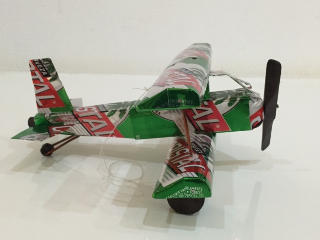 Recycled Can Airplane
