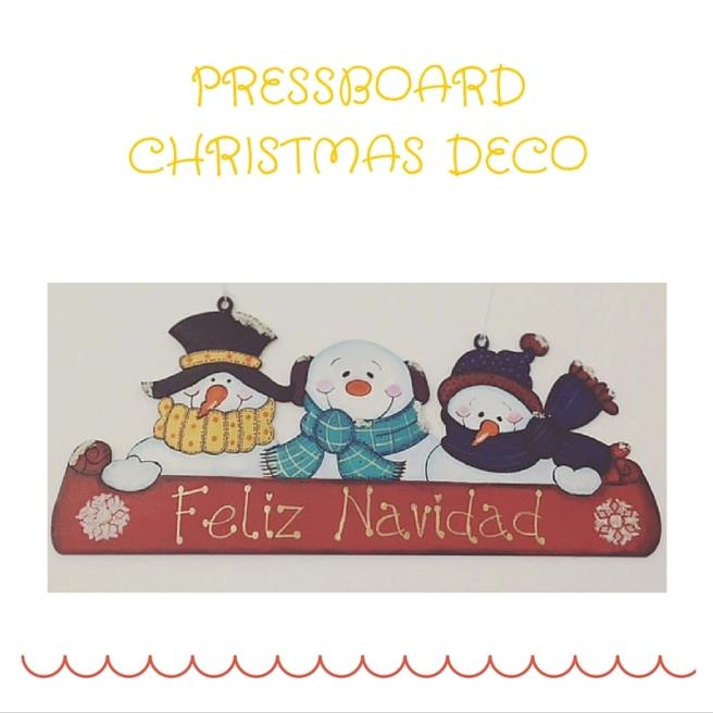 PRESSBOARD CHRISTMAS DECO