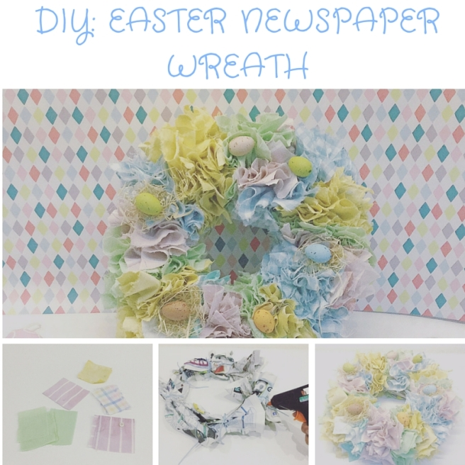 DIY Easter Newspaper Wreath