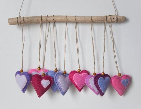 DIY - Felt Hearts with Lavender