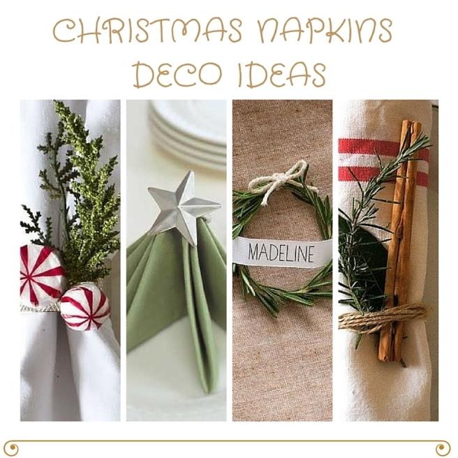 CHRISTMAS NAPKINS DECO IDEAS