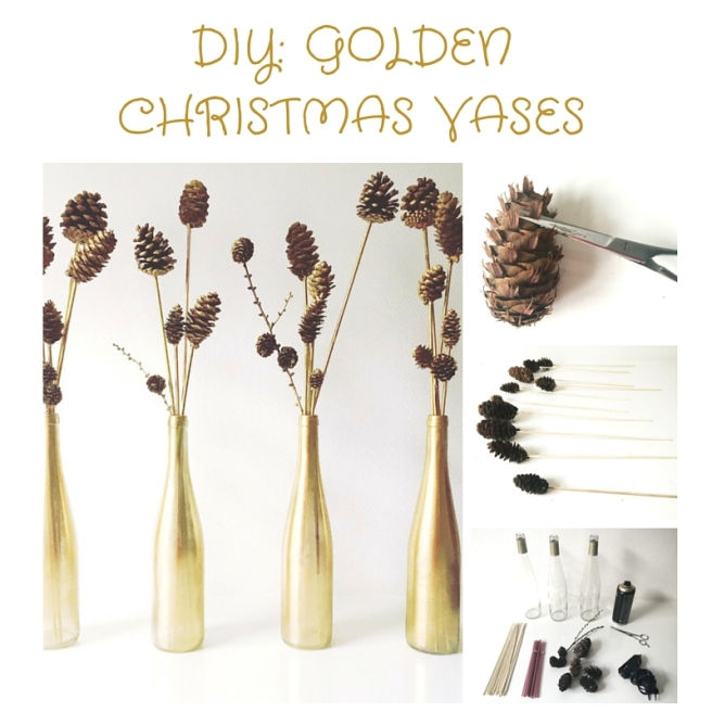 DIY GOLDEN CHRISTMAS VASES