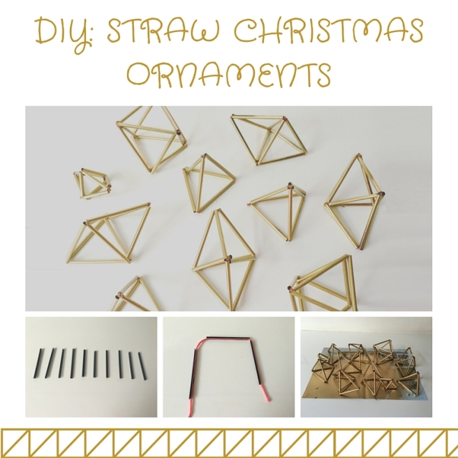 DIY STRAW CHRISTMAS ORNAMENTS