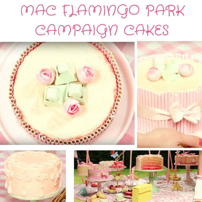 MAC Flaming Park Campaign Cakes