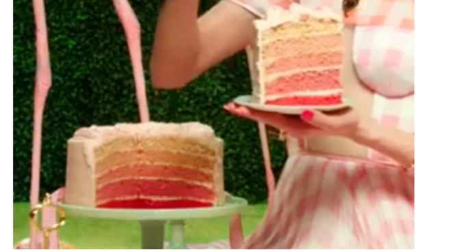 Flamingo pink layered cake