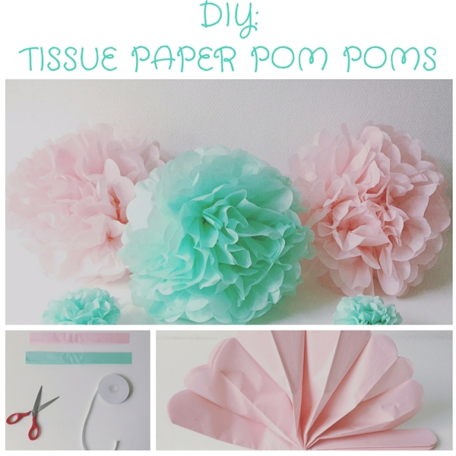 DIY TIssue Paper POMPOMS
