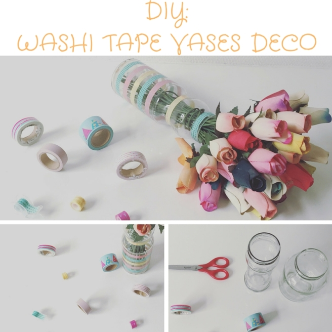 Washi Tape Vases Deco