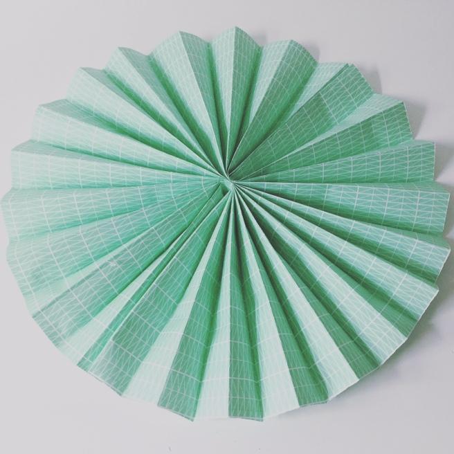 mint paper fan