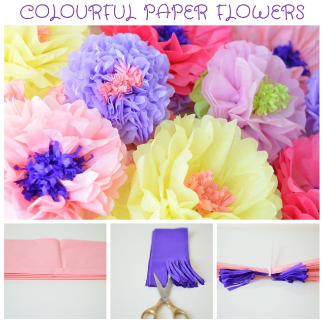 Colourful Paper Flowers DIY