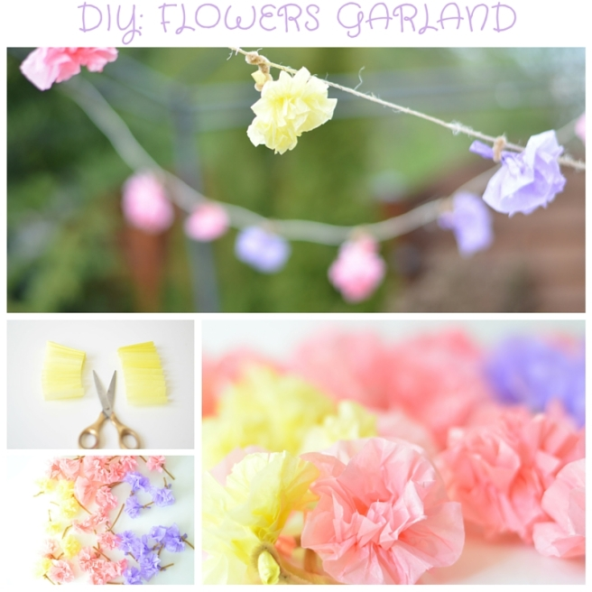 Diy paper flowers garland the party ville party planner flowers garland diy mightylinksfo
