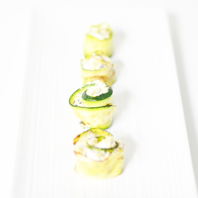Zucchini cream cheese rolls