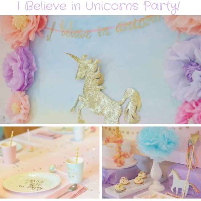 I Believe in Unicorns Party meri meri