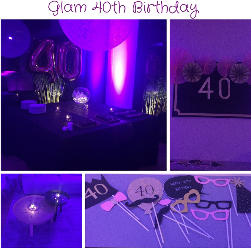 Glam 40th Birthday The Party Ville Party planner Luxembourg