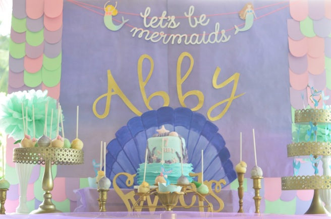 Let's be mermaids party 1