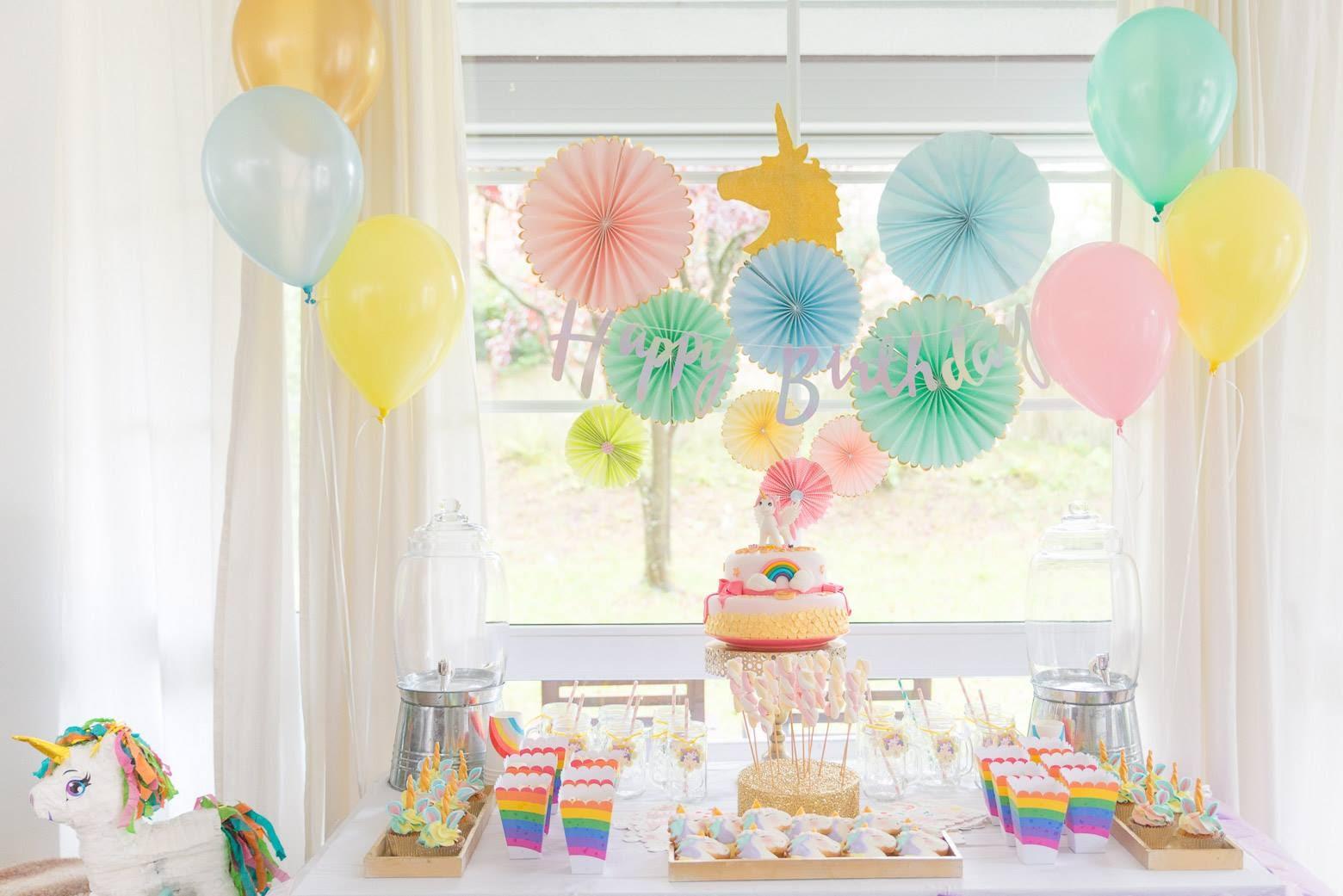 pastels unicorn party